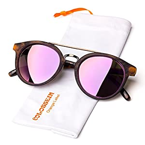 Colossein Vintage Fashion Sunglasses for women,Ultra Quality Hand Made Acetate Frame,Polarized Lens,Fit for Small Face