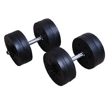 HOMCOM - Juego de Mancuernas para Entrenamiento a casa (Tubos de Acero y PE plástico 8 Piezas 20 kg Negro: Amazon.es: Deportes y aire libre