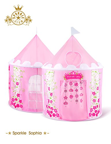 Bestmart INC Children's Play Tent Tunnels Princess Castle Indoor Outdoor Play House Halloween Christmas Theme Party Play Hut Birthday Gift, Premium Quality/Safety Certified as per ASTM -