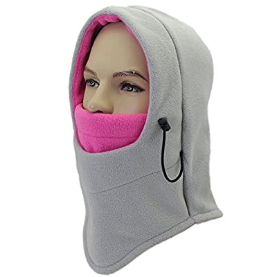 Miracu Balaclava Windproof Ski Face Mask, Unisex Soft Fleece Winter Hat/Hood