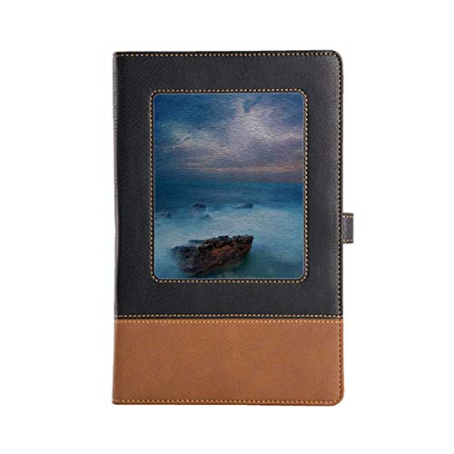 DIY Series Notebooks Lake House Decor Rich Patterns and Various Styles Leather Notebook A5, 8.6 x 6.1 Inches