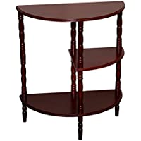 Home Source Industries AF9816 Multi Tiered End Table, Mahogany