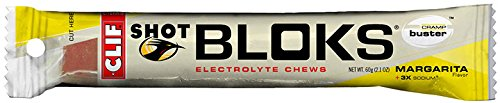 Clif Bar Shot Bloks Electrolyte Chews, Margarita 18 - 2.1 oz (60g) per packet 38.1oz -