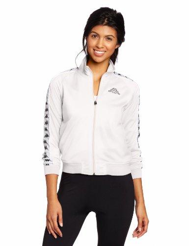 Kappa Women's Banda Anniston Jacket, White, Medium
