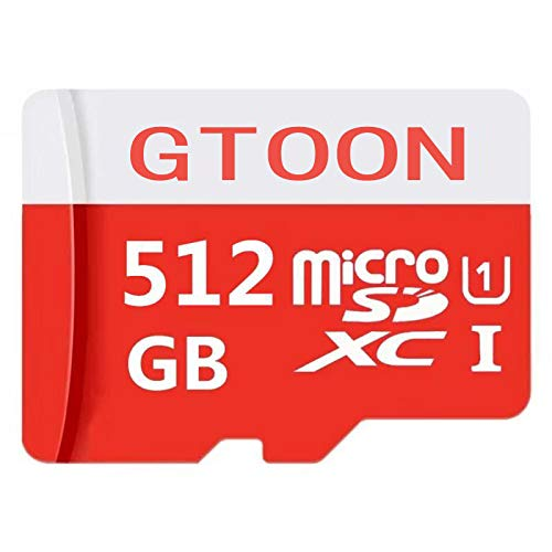 512GB Micro SD SDXC Memory Card High Speed Class 10 with Micro SD Adapter (512GB) by genericc