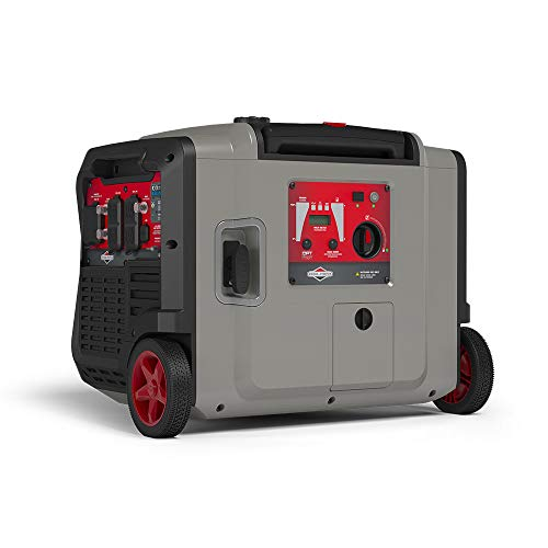 Briggs & Stratton P4500 PowerSmart Series Inverter Generator with Electric Start, CO Guard, and Quiet Power Technology, 4500 Starting Watts 3700 Running Watts, RV Ready