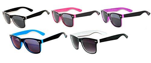 New Retro Vintage Two -Tone Sunglasses Smoke Lens (Five-Colors, - Two Tone Sunglasses