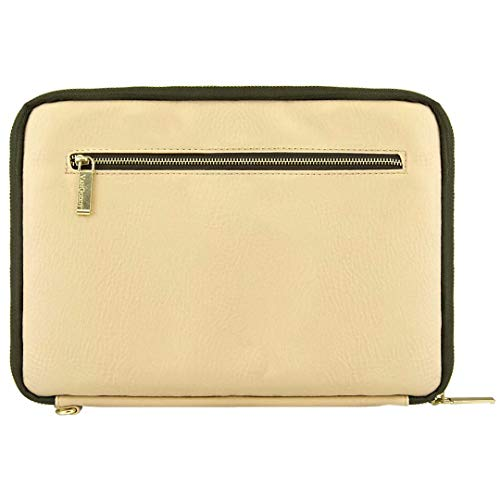 VanGoddy Irista 10 inch sleeve for 8.9 to 10.1 inch devices (Tan with Olive Green Trim) ()