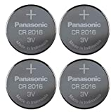 Panasonic Cr-2016 Lithium Coin Battery - 4 Pack