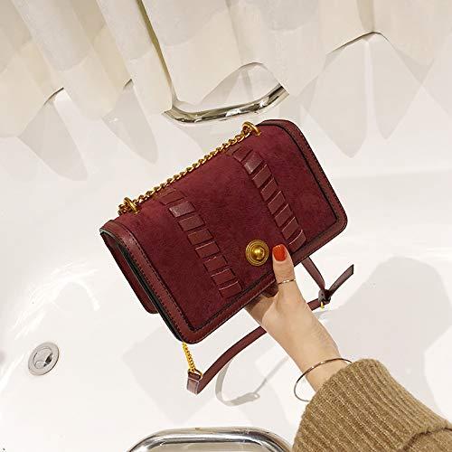 Rosso Borsa Bambina Coreana Porta Nuova A Versione Chic Della Rossa Selvaggia Tracolla Quadrata Retrò Ondata Saoga Piccola Femminile Tracolla qURwq