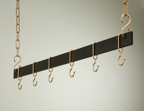 Hanging Bar Rack in Black w Copper (36 in.)