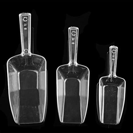 Candy Buffet Black Plastic Candy Scoops x 3