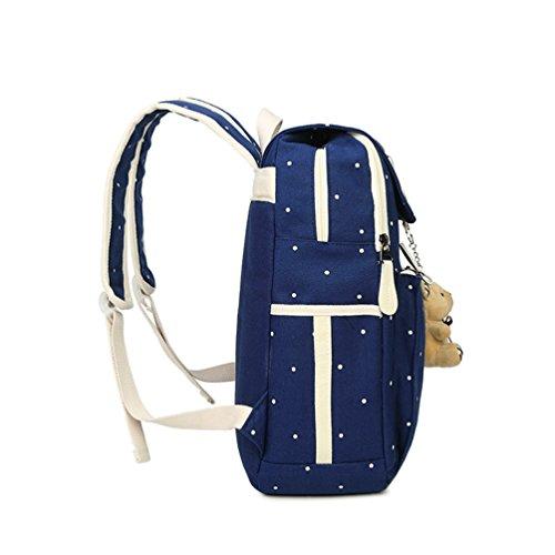 Mochila Azul Casual Libre Mano para Viajes Bolso al de para De Mochilas Xinwcang Niños Niñas Portátil Escolares Pcs Billetera 4 Bolsa aire Hombro qnp8B