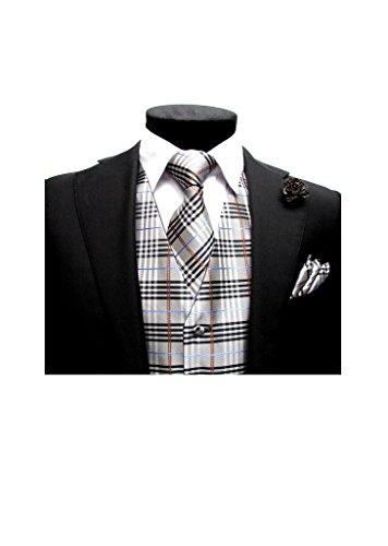 Buy mens plaid dress vests - 4