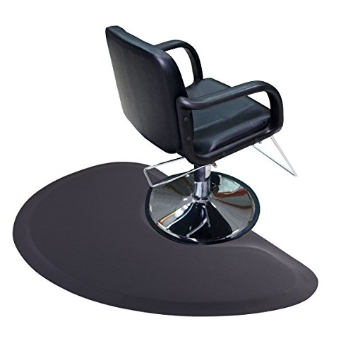 LAZYMOON 5'x3' 1/2'' Semi Circle Thick Barber Salon Fatigue Floor Mat Beauty Supplier by LAZYMOON