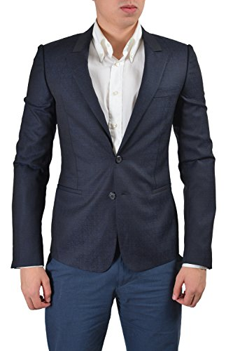 Gianni Versace Men's Dark Blue Wool Silk Sport Coat Blazer US 38 IT ()