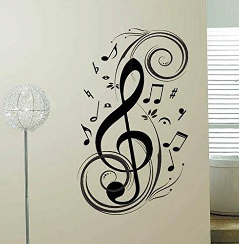 - Waldenn Music Note Swirl Vinyl Wall Sticker Home Decal Decor Lettering Words Art | Model DCR - 1491