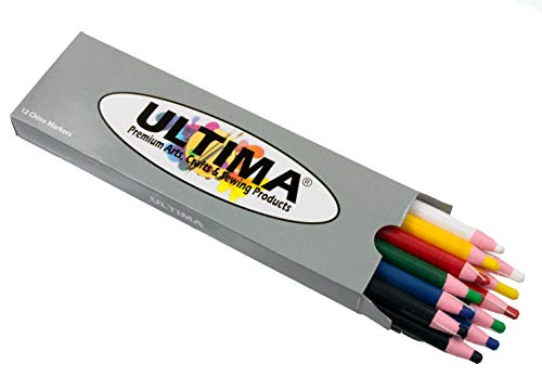Ultima China Marker – Peel-Off Grease Pencil/Wax Pencil – Leaves Opaque, Easy to Remove Markings on all Glazed, Non-Porous & Polished Surfaces (Assorted) (Color: Assorted)