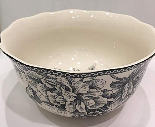 222 Fifth Adelaide Gray Toile Pattern Soup/Cereal Bowls | Set of 4 ()