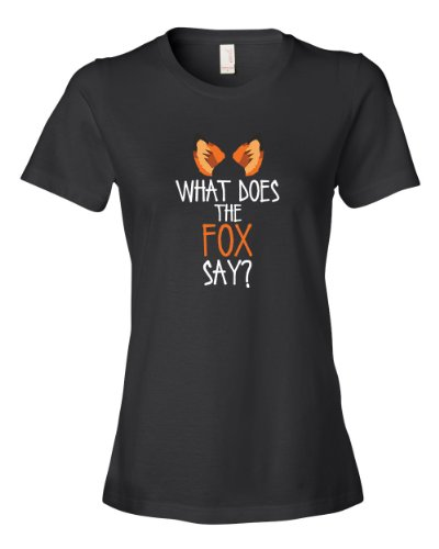 What Does The Fox Say Tee Shirt Womens XL black U - Kaka Tee