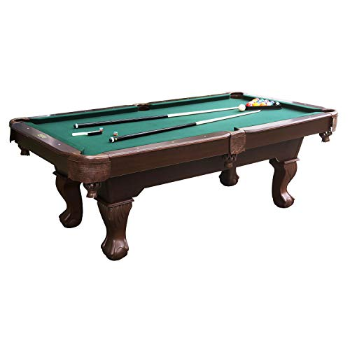 "Barrington Springdale 90"" Claw Leg Billiard Table Set with Cues, Rack, Balls, Brush, and Chalk (23 Pieces)"