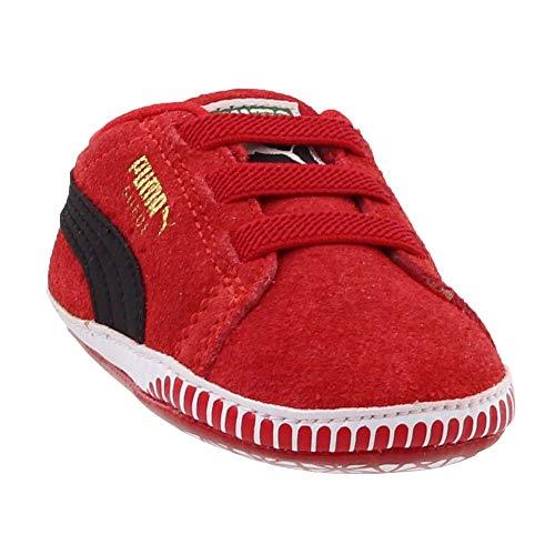 (PUMA Suede Crib Shoe , High Risk Red/Black, 3 M US Infant)