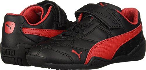 PUMA Baby Tune Cat 3 Velcro Sneaker, Black-Ribbon red, 9 M US Toddler