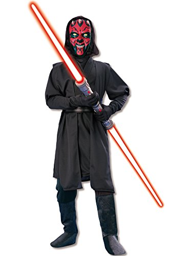 Little Boy Movie Up Costume (Star Wars Deluxe Darth Maul Child's Costume, Large)