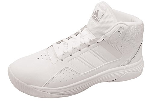 adidas Performance Men's Cloudfoam Ilation Mid Basketball Shoe,White/White/Clear Onix Grey,7.5 M US