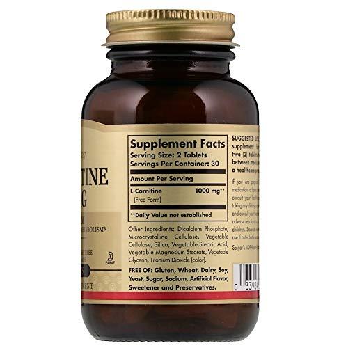 Solgar, L-Carnitine 500 mg 60 Tablets