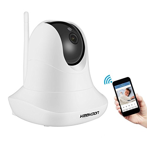 KeeKoon 1080P Wireless/Wired IP Camera ,Baby Monitor with Two-Way Talk & Pan/Tilt & Night Vision -