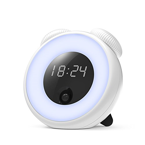 Alarm Clock Night Light, GAKOV GAYD-208 Intelligent Clock LED Night Light Bedside Lamp & Creative Fantasy Romantic Sleep Lights Wake Up Lights For You (Alarm Clock Creative)