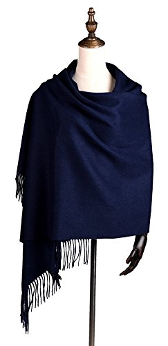 Super Soft 100% Pure Cashmere Shawl, Navy