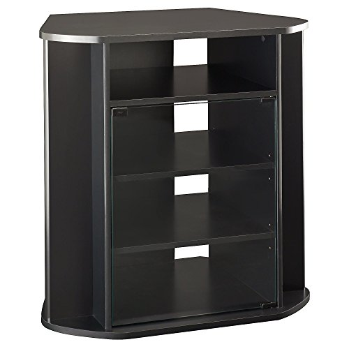- Bush Furniture Visions Tall Corner TV Stand in Black