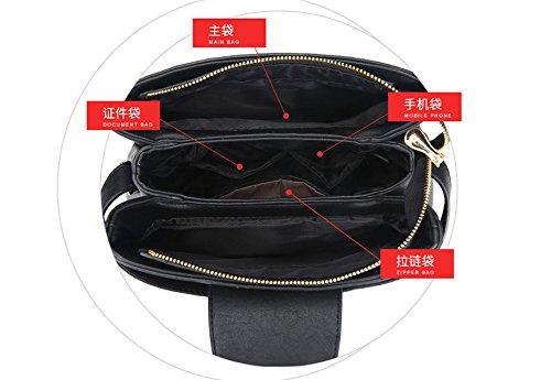 nera borsa tracolla portatile Gwqgz nera con Cinghie basculante semplice a Xf5qwxT68