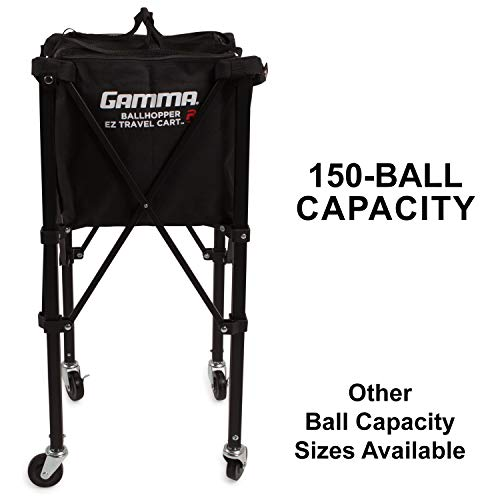 - Gamma Sports EZ Travel Cart Pro 150 Ball Hopper, Black