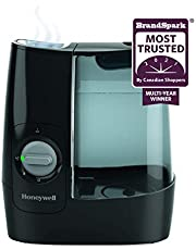 Honeywell HWM845BC Soothing Comfort Warm Mist Humidifier, Black, with Essential Oil Cup, Auto Shut-off, Wide Tank Opening, Warm Visible Mist