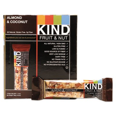 KIND FRUIT & NUT BARS BAR,ALMOND & COCONUT, 1.4 OZ by KIND (Image #1)