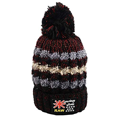 Fheaven Women Warm Fheaven Ear Velvet Fluff Ball Winter Crochet Hairball Caps (Gray) ()