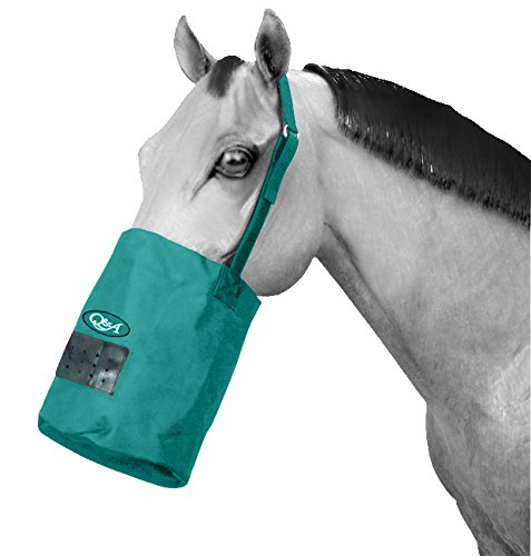 Q&A SUPPLY Nylon Feed Bag in Teal