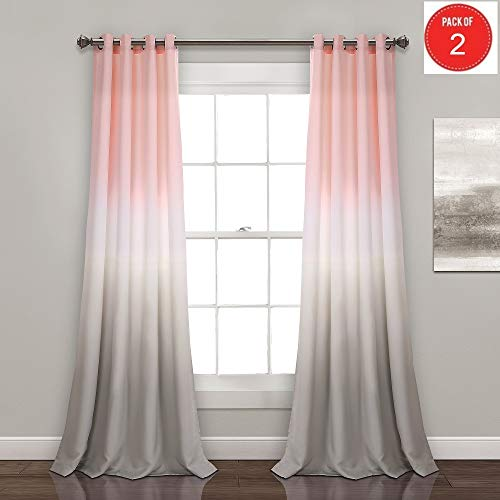 Lush Decor Umber Fiesta Room Darkening Window Curtain Panel Pair, 84