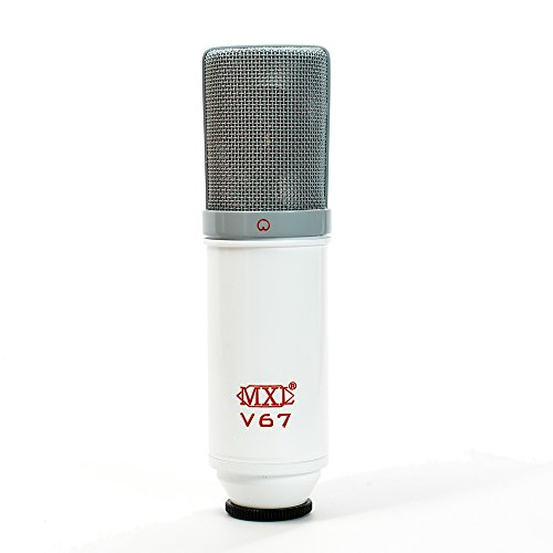 MXL V67G Custom Large Capsule Condenser Vocal Microphone (Red, White, and Grey) by MXL