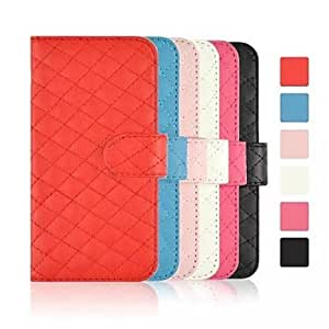 YULIN Plaid Pattern PU Leather Cover with Card Slot for iPhone 6 (Assorted Colors) , Rose
