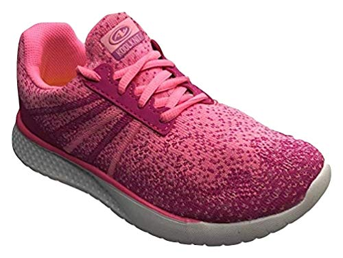 Athletics Works Girls Lightweight Knit Low Profile Running Shoe (6 M Big Kids, Pink) (Best Low Profile Running Shoes)