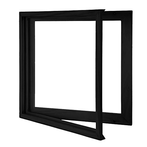 KAIU Vinyl Record Frame - Solid Wood with Clear Acrylic to Display Your Album- Innovative Open/Close Mechanism to Ease Your Album Changeover (Black, LP)
