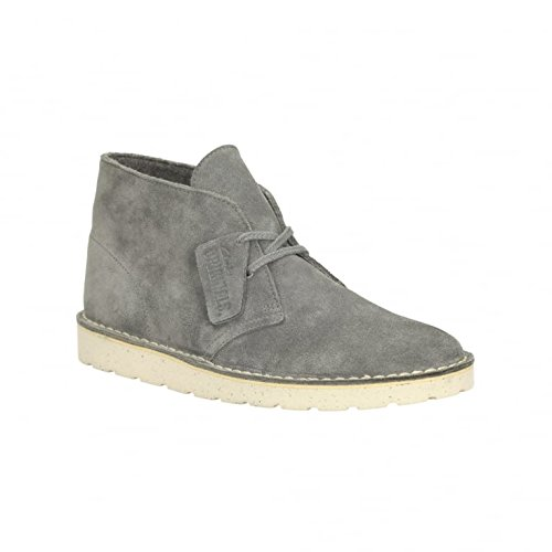 Clarks Mens Dark Grey Desert Aerial Suede Boots