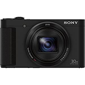 Sony Cyber-shot HX80 Compact Digital Camera 32GB Memory Card Bundle includes Camera, Card, Reader, Wallet, Case, HDMI Cable, Mini Tripod, Screen Protectors, Cleaning Kit, Beach Camera Cloth and More! from Sony