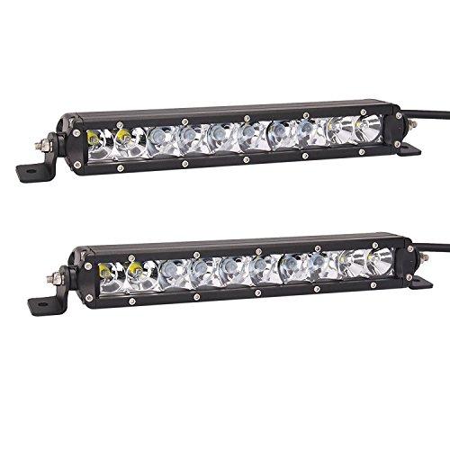 Bangbangche 2X 11inch 50W Spot Single Row CREE Waterproof LED Light Bar Led Trailer Lights Led Truck Light Bars Reverse Lights for Tractor,Trailer,ATV,SUV,Jeep,Boat,Snow Plow, 4 wheeler,Off Road