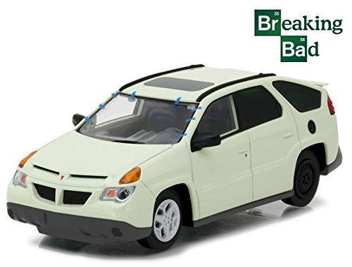 NEW 1:43 GREENLIGHT HOLLYWOOD COLLECTION - BREAKING BAD 2008-13 - CREAM 2004 PONTIAC AZTEK WALTER WHITE Diecast Model Car By Greenlight 2008 Cream