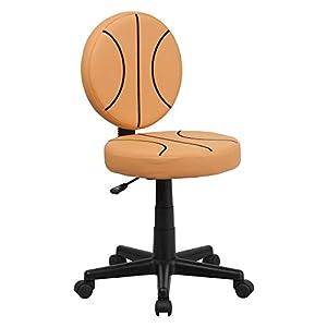 Flash Furniture Basketball Task Chair - Orange, Armless